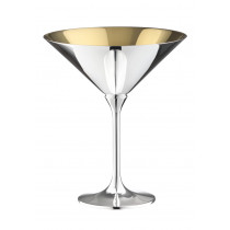 Robbe & Berking Dante Cocktailschale 90g versilbert, innen vergoldet
