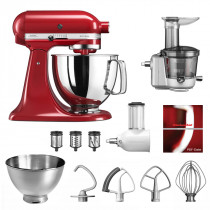 KitchenAid Küchenmaschine 175PS Entsafter Vital-Set empirerot