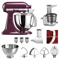 KitchenAid Küchenmaschine 175PS Entsafter Vital-Set holunderbeere