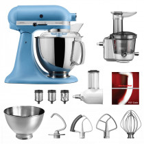 KitchenAid Küchenmaschine 175PS Entsafter Vital-Set samtblau