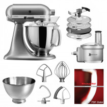 KitchenAid Küchenmaschine 175PS Foodprocessor Set Kontursilber
