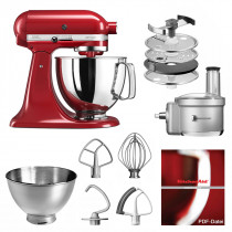 KitchenAid Küchenmaschine 175PS Foodprocessor Set empire rot