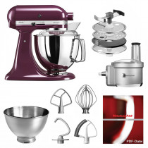 KitchenAid Küchenmaschine 175PS Foodprocessor Set holunderbeere