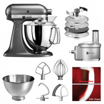 KitchenAid Küchenmaschine 175PS Foodprocessor Set medallion silber