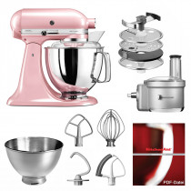 KitchenAid Küchenmaschine 175PS Foodprocessor Set seidenpink/rosa