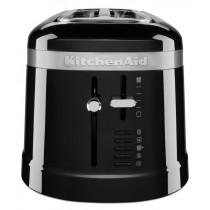 KitchenAid Loft 4 Scheiben Langschlitz-Toaster Design schwarz