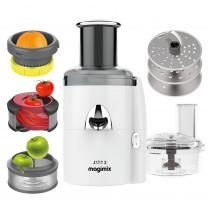 Magimix Juice Expert 3 weiß Entsafter mit Gemüseschneider gratis