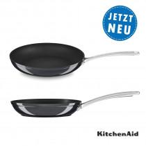 KitchenAid Bratpfanne 30 cm, harteloxiert KC3H112SKEBE Ansicht oben/seitlich