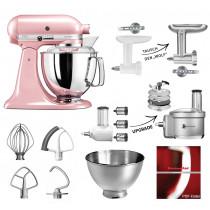 KitchenAid Küchenmaschine 175PS Fleischwolf Gemüse Set seidenpink/rosa