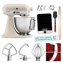 KitchenAid Artisan 4,8-L Küchenmaschine Leinen 5KSM156HMEFL