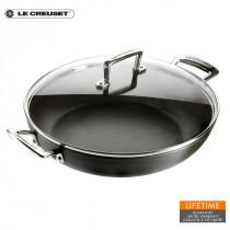 Le Creuset Aluminium-Antihaft-Profi-Pfanne mit Glasdeckel 26 cm