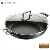 Le Creuset Aluminium-Profipfanne 30 cm mit Glasdeckel
