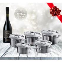 Le Creuset 3-ply Topfsatz 5-tlg. mit Weihnachtswein