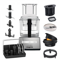 Magimix Küchenmaschine 5200XL chrom matt inkl. Würfel-Set