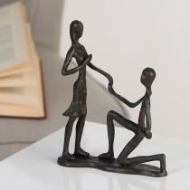 "Casablanca Design Skulptur ""Marry Me"" Gusseisen, brüniert"
