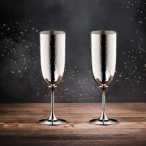 Robbe & Berking Martelé Champagnerkelch 90g versilbert 2er Set