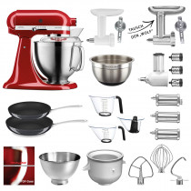 KitchenAid Küchenmaschine Empirerot 185PSE WBZH