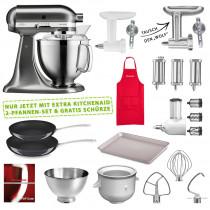KitchenAid 5KSM185PSEER Set #wir bleiben zuhause Metall gebürstet