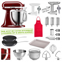 KitchenAid 5KSM185PSEER Set #wir bleiben zuhause purpur rot