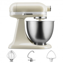 KitchenAid Küchenmaschine 3,3-L-Mini creme/mandel im Set