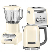 KitchenAid Set Wasserkocher + Toaster + Standmixer Mandel