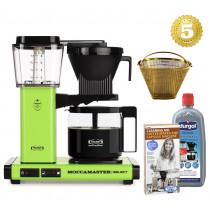 Moccamaster Kaffeemaschine KBG Select Apfelgrün Aktionspaket