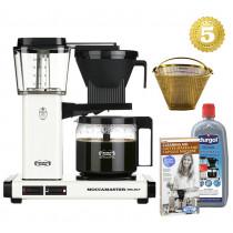 Moccamaster Kaffeemaschine KBG Select Off White Aktionspaket