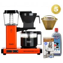 Moccamaster Kaffeemaschine KBG Select Orange Aktionspaket mit Zubehör
