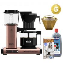 Moccamaster Kaffeemaschine KBG Select Kupfer Set mit Reinigung und Goldfilter