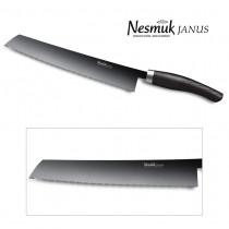 NESMUK JANUS Brotmesser 270-mm Klinge mit Griff aus dunkler Mooreiche