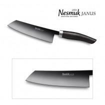 NESMUK JANUS Kochmesser 140-mm Klinge (60 HRC) mit Griff aus Mooreiche