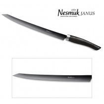 NESMUK Janus Slicer 260-mm Klinge mit Griff aus Mooreiche