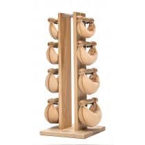 NOHrD Swing Turm Esche helles Leder - Hanteln aus Vollholz und Leder 13.213, 13.201