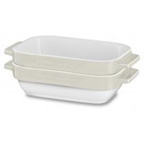 KitchenAid Glaskeramik Mini-Bäcker-Set 2tlg. Crème