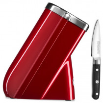 KitchenAid Messerblock + gratis Messer liebesapfelrot