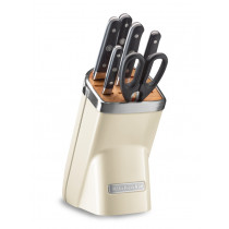 KitchenAid Messerblock 7-teiliges Set creme Almond Cream