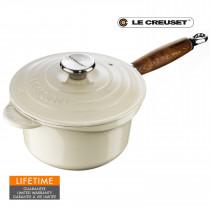 Le Creuset Signature Profitopf mit Holzgriff 18 cm merengue