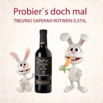 Tbilvino Saperavi Georgien trockener Rotwein 0,375 Liter