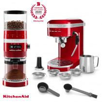 KitchenAid Artisan Espressomaschine mit Mühle im Set Empirerot