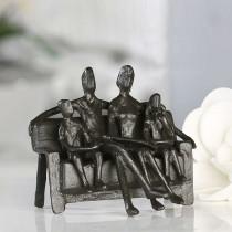 "Casablanca Skulptur ""Sitting Family"" Eisen brüniert"