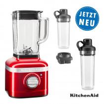 KitchenAid ARTISAN K400 Standmixer 5KSB4026 empirerot Set mit 2xTo-Go-Behälter und Klingen