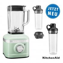 KitchenAid ARTISAN K400 Standmixer 5KSB4026 pistazie mit 2xTo-Go-Behälter und Klingen