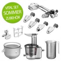 KitchenAid Sommer Vital Zubehör im Set mit Eisbereiter, Spiralschneider und Entsafter
