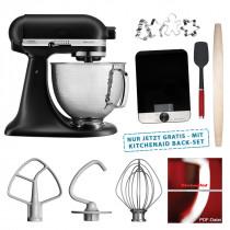 KitchenAid Artisan Küchenmaschine mattschwarz 5KSM156HMEBM Edition 4,8l