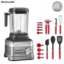 KitchenAid ARTISAN Power Plus Blender/Standmixer Medallion Silber + 15 tlg. Set