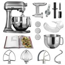 KitchenAid Küchenmaschine 6,9l Profi-Zubehör Set medallionsilber