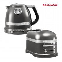 KitchenAid Artisan Wasserkocher + Toaster Medallion Silber