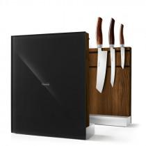 Nesmuk Messerhalter Messerblock magnetisch Eiche geräuchert schwarz