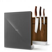 Nesmuk Messerhalter Messerblock magnetisch Eiche geräuchert grau