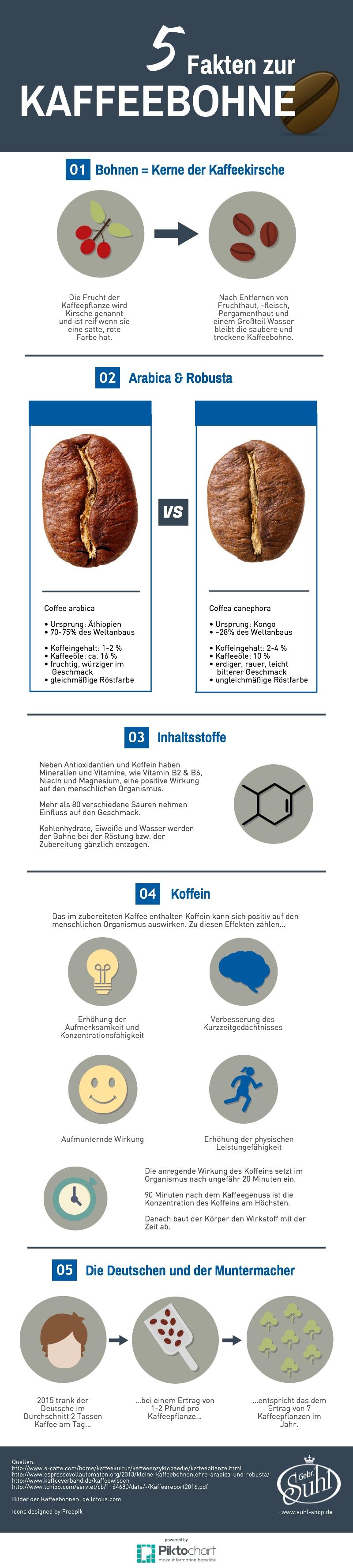 Infografik: 5 Fakten zur Kaffeebohne